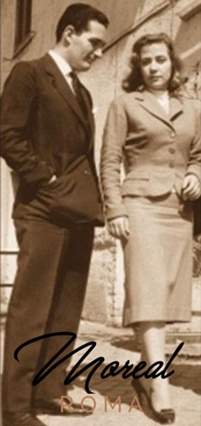 Graziella Moreal e il marito 1954 Roma