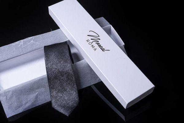 cravatta-melange-grigio-scuro Moreal Roma