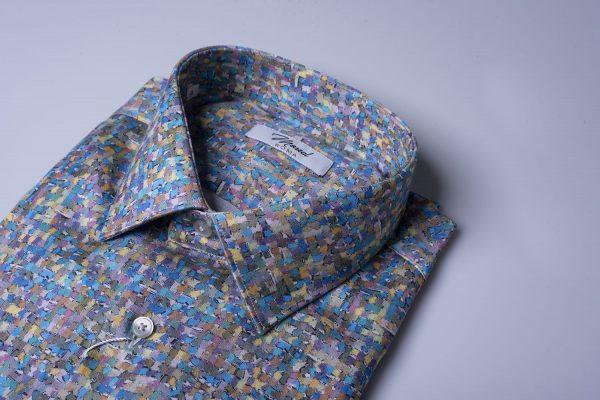 Camicia fantasia-quadretti-multicolor