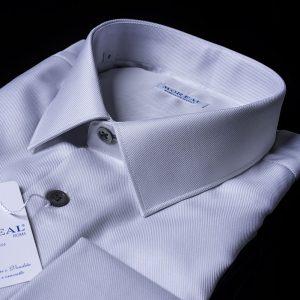 Camicia gemello-polso-operato-diagonale-grigio