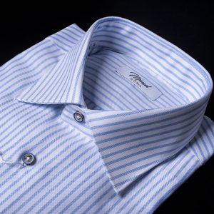 camicia oxford-bianca-riga-celeste