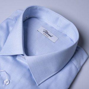 Camicia pin point celeste