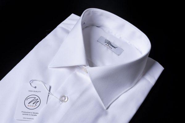 Camicia polso-semplice-bianca