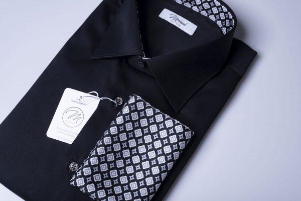 camicia popeline nera