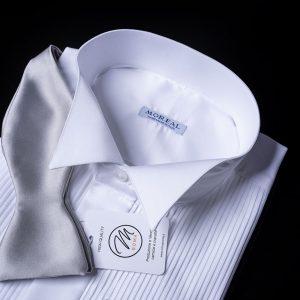 Camicia da smoking plissè