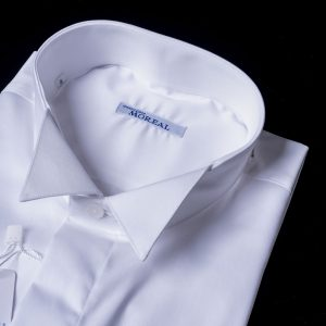 Camicia da smoking con colletto diplomatico