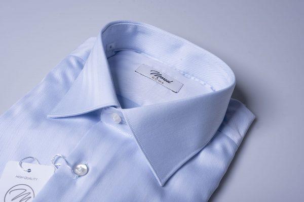 camicia spinata-celeste