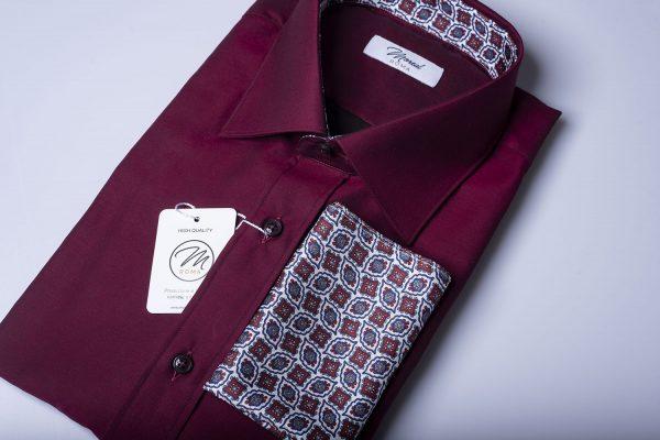 Camicia twillino-bordeaux