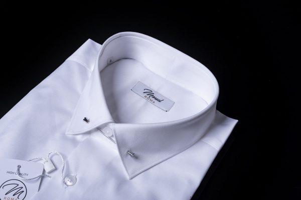 Camicia da cerimonia collo zeus