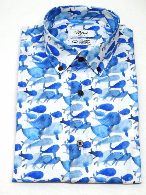 Camicia serie green collection balene