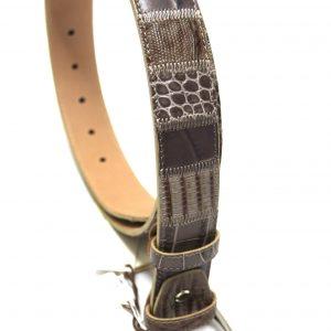 Cintura pelle patch beige sc