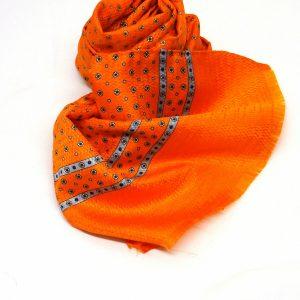 Sciarpa seta fluo arancio