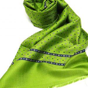 Sciarpa seta fluo verde acido