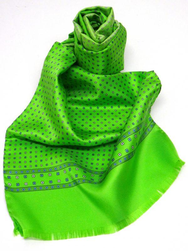 Sciarpa seta fluo verde