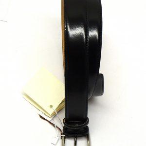 cinta pelle nera lucida