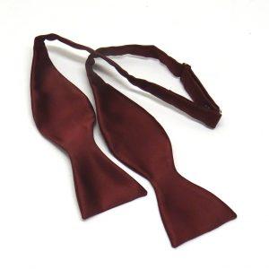 Bow tie seta bordeaux