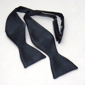 bow tie seta blu