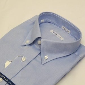 Camicia facile stiro oxfordino celeste