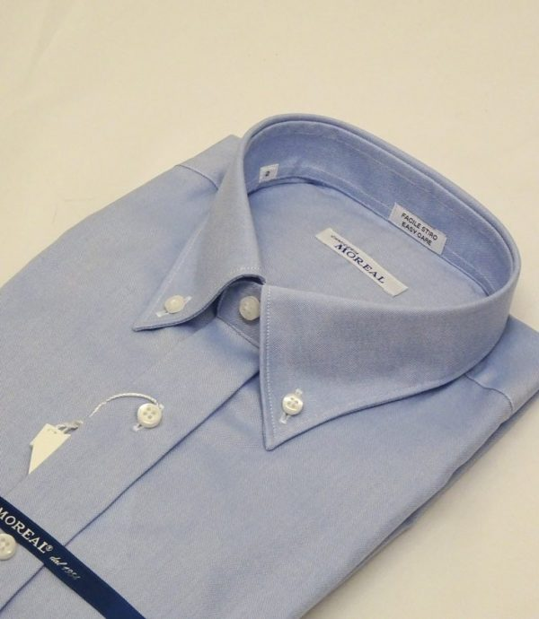 Camicia facile stiro oxfordino celeste