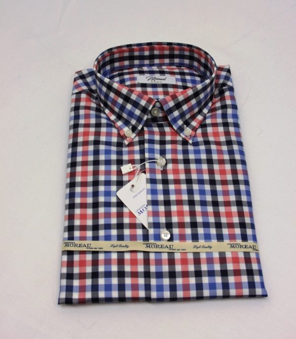 Camicia quadri rosa e blu 1