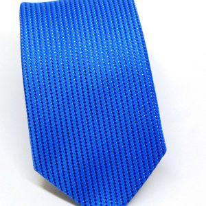 Cravatta seta azzurra puntino bianco