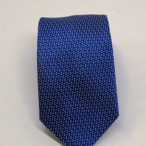 Cravatta seta azzurra trattini