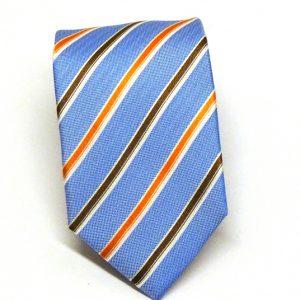 Cravatta seta celeste regimental 1
