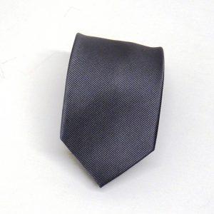 Cravatta seta diagonale grigio scuro
