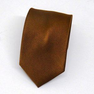 Cravatta seta diagonale marrone