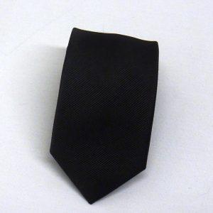 Cravatta seta diagonale nero