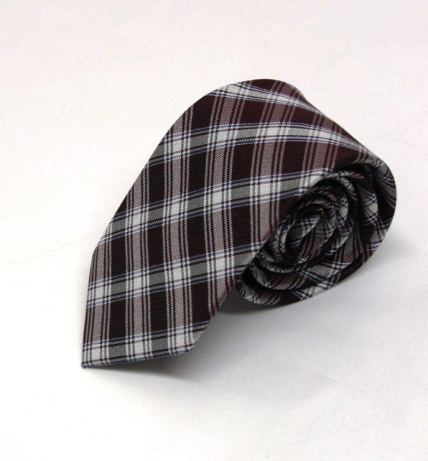 Cravatta seta galles bordeaux