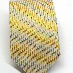 Cravatta seta gialla puntino