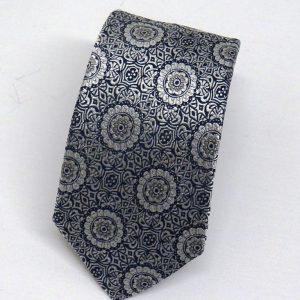 Cravatta seta jacquard fiori