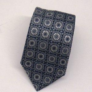 Cravatta seta jacquard rosoni grigia