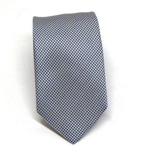 Cravatta seta pied de poule bianco blu