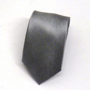 Cravatta seta puntino grigio medio