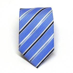 Cravatta seta regimental celeste scuro