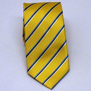Cravatta seta regimental gialla