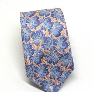 Cravatta seta rosa con fiori