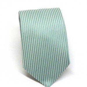Cravatta seta verde acqua puntino