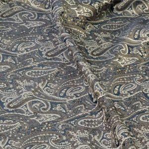 Viscosa fantasia cashmere blu beige grigio col 88433