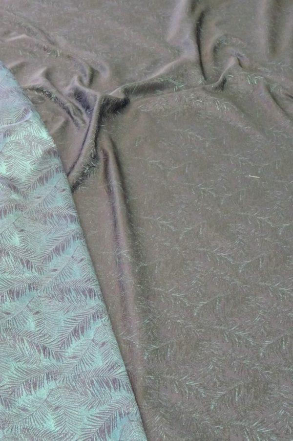 viscosa double fantasia foglie blu verde col 88136