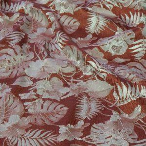 Viscosa fantasia rosso con foglie col 87984 (op)