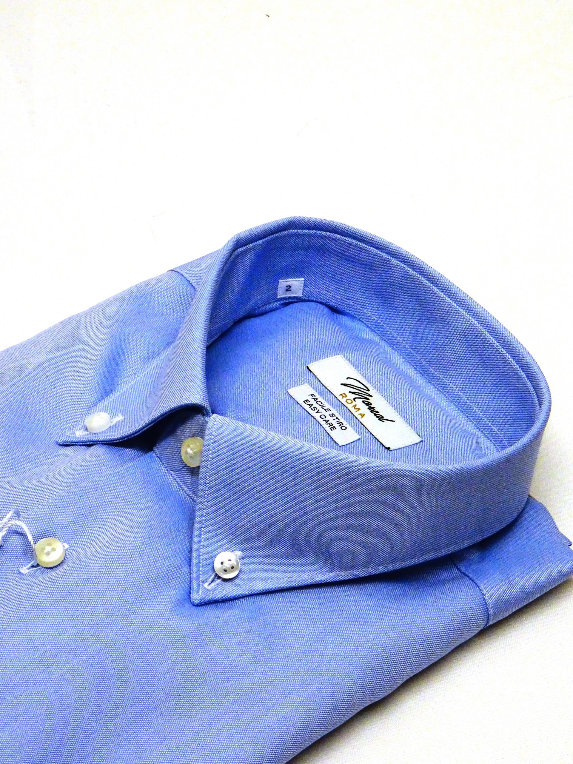 Camicia facile stiro pin point celeste