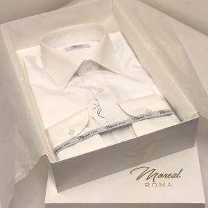 Camicia classica bianca polso sdoppio_moreal roma