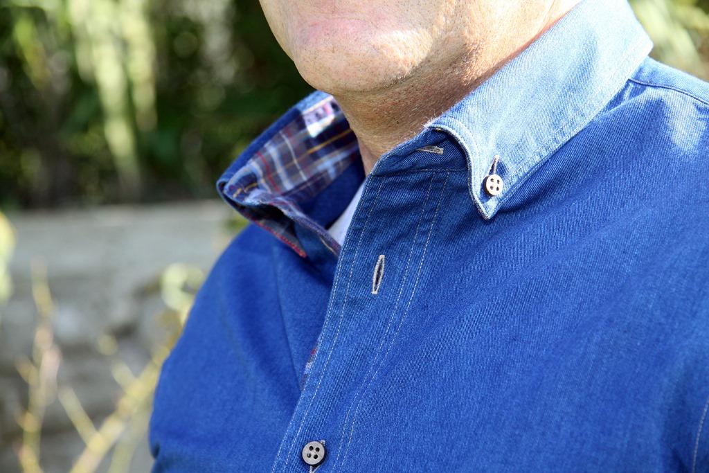 Camicia jeans profilo Moreal Roma_green collection1