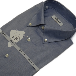 DO803L Moreal Roma camicia casual button down azzurra