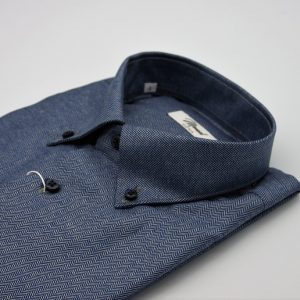 DO946MI CAMICIA BLU SPIGATA MOREAL ROMA COLLO BUTTON DOWN (3)