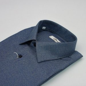 DO946MI CAMICIA BLU SPIGATA MOREAL ROMA COLLO ITALIANO (3)