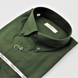 Camicia cotone fil a fil verde b.d_Moreal Roma